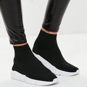 Justfab Black Sock Sneakers Balenciaga